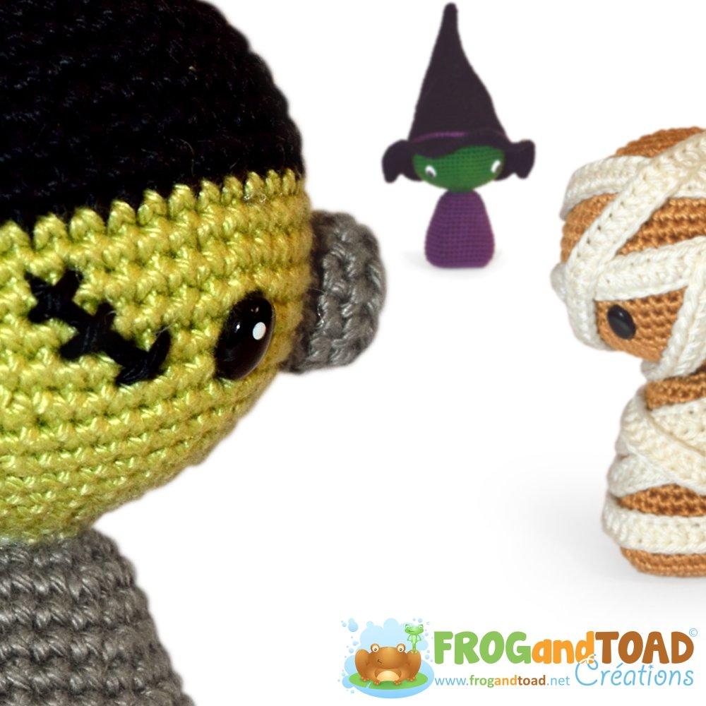 HALLOWEEN TRIO - Amigurumi Crochet Patron - PDF Français