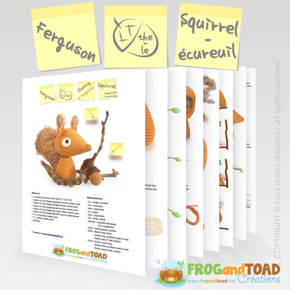 Ecureuil & Glands - Amigurumi Crochet Patron - PDF Français