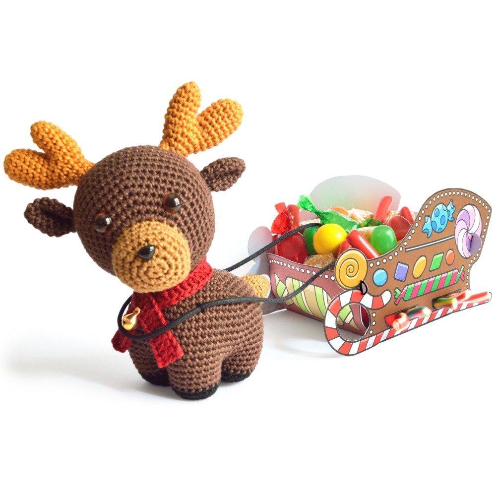 Renne & traîneau - Rudolph - Amigurumi Crochet Tuto Patron - PDF Tuto Français