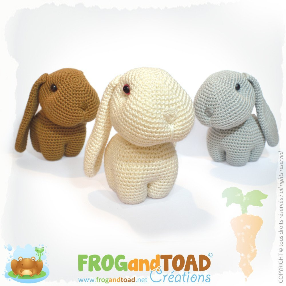 Un petit amigurumi lapin au crochet - patron gratuit | Crochet ... | 1000x1000
