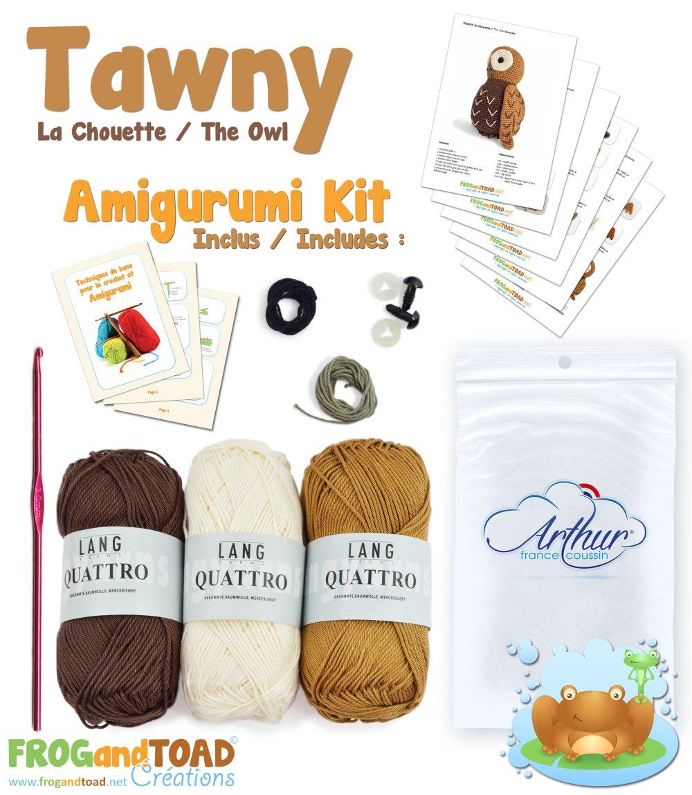 Amigurumi Crochet Kit - TAWNY la Chouette