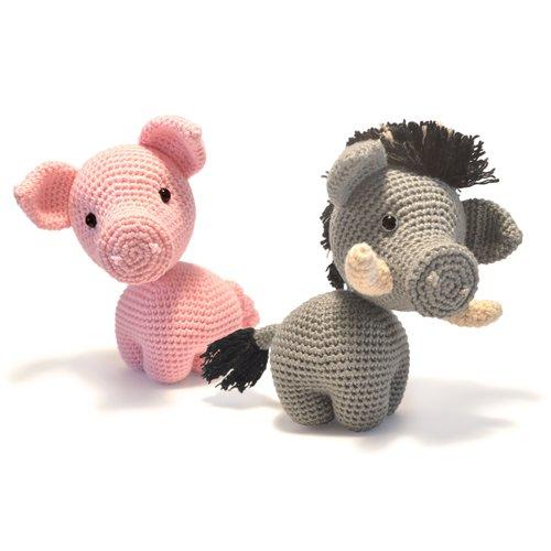 Cochon - sanglier - amigurumi crochet tuto patron - pdf tuto français