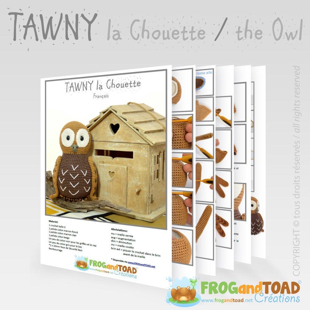 Hibou - TAWNY la Chouette - Amigurumi Crochet Patron - PDF Tuto Français