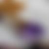 Sautoir pendule pointe cristal violet doré or, mariage elfique païen, améthyste, victorien, gothique, magie wicca, collier sorcière