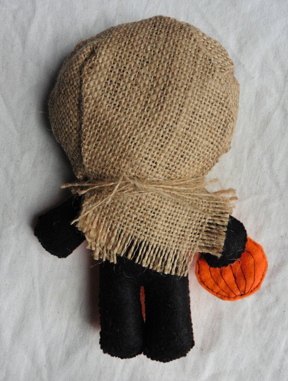 Poupée Momie Jack à la Lanterne - Halloween, Vaudou, Voodoo Doll, Gothique, Occulte, Magie, Sorcière, Citrouille, Orange, Potiron