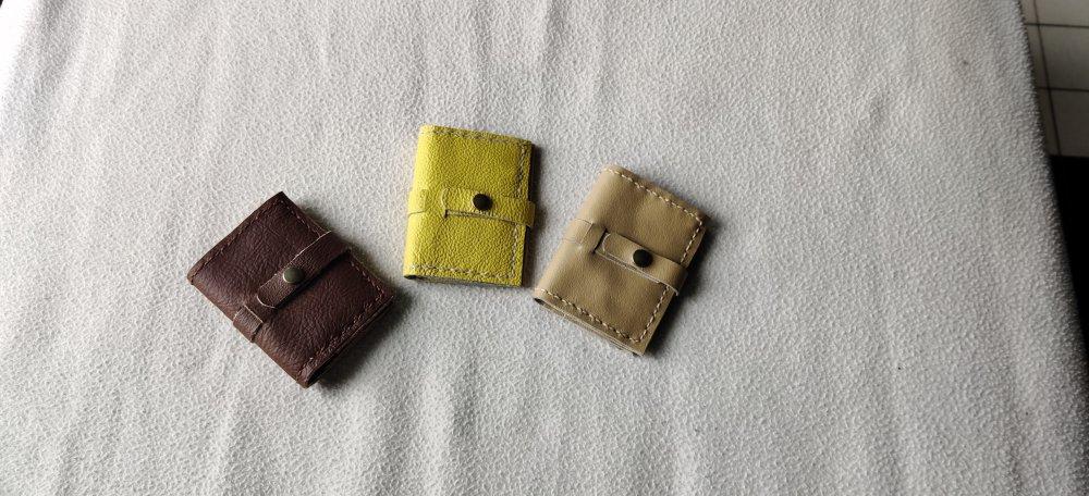 Portes cartes en cuir fermeture pression