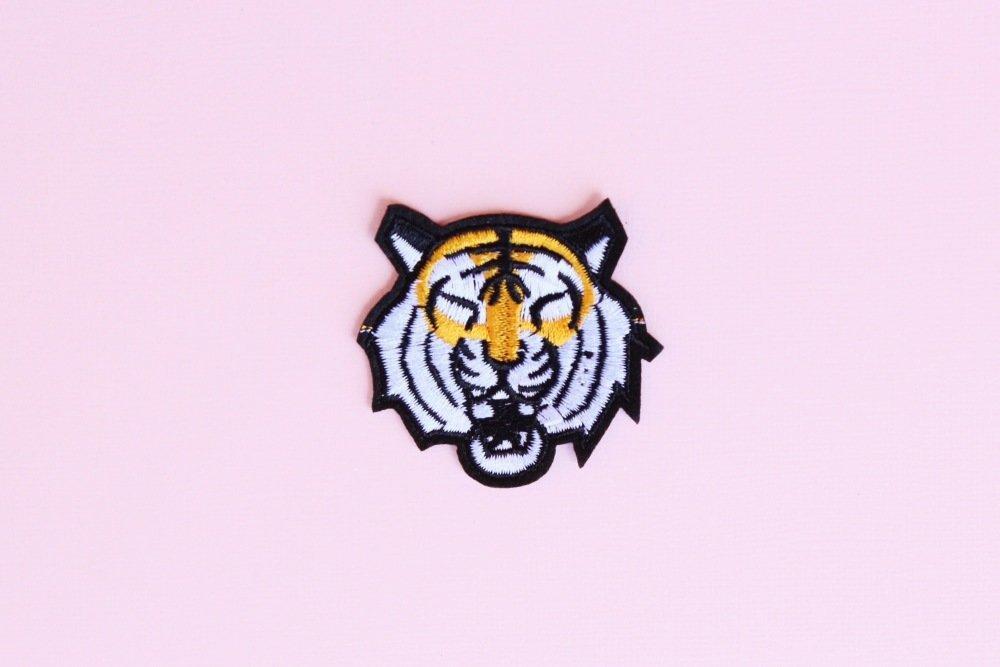 Patch thermocollant brodé, Tigre, Applique, Motif thermocollant, patch animaux, patch vêtement