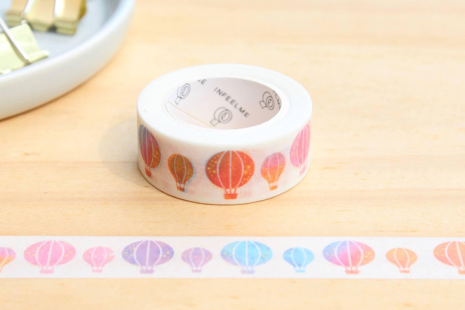 Masking tape Ballon dirigeable, Washi tape, kawaï