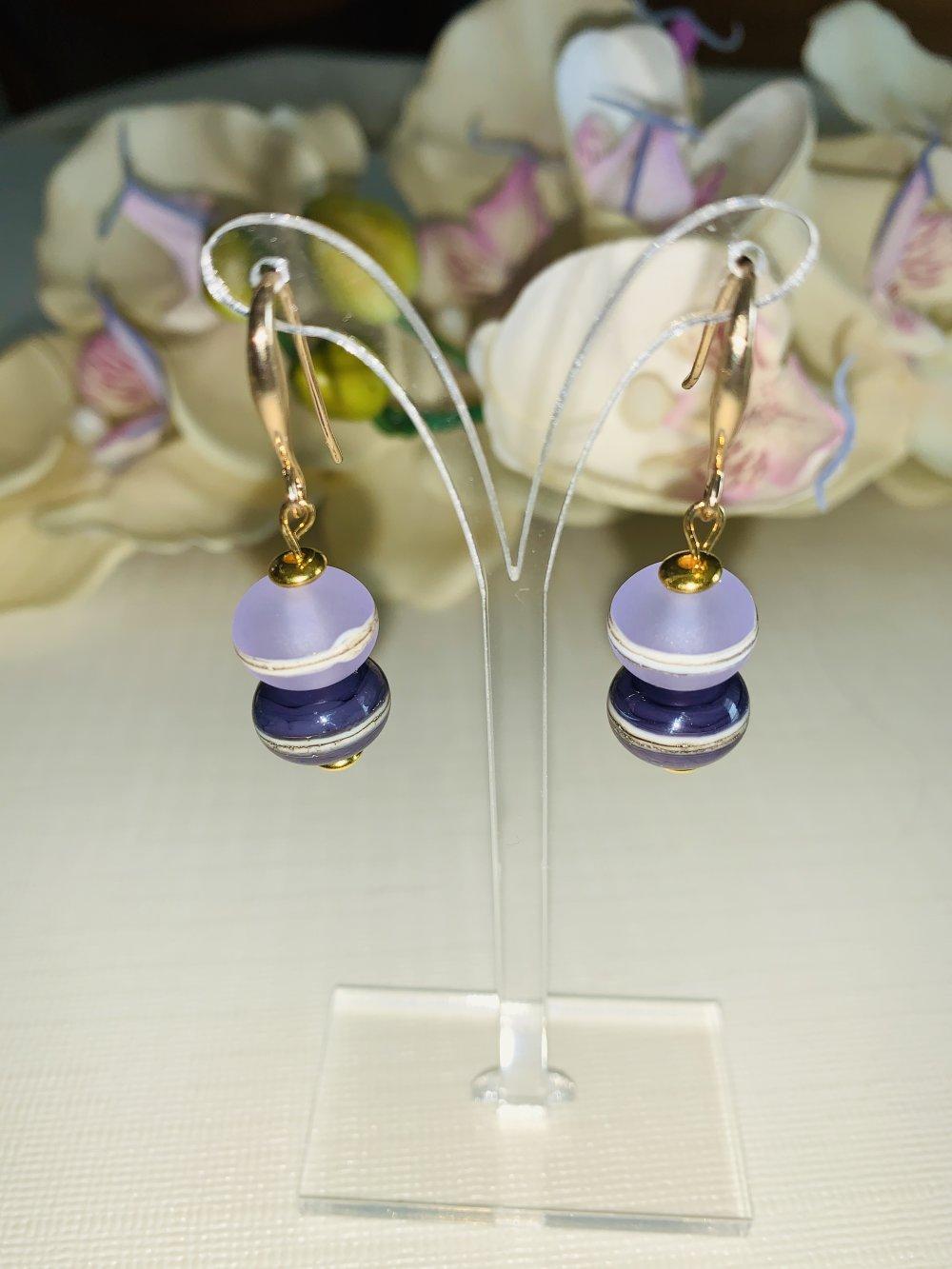 Boucles d'oreilles plaqué or et perles