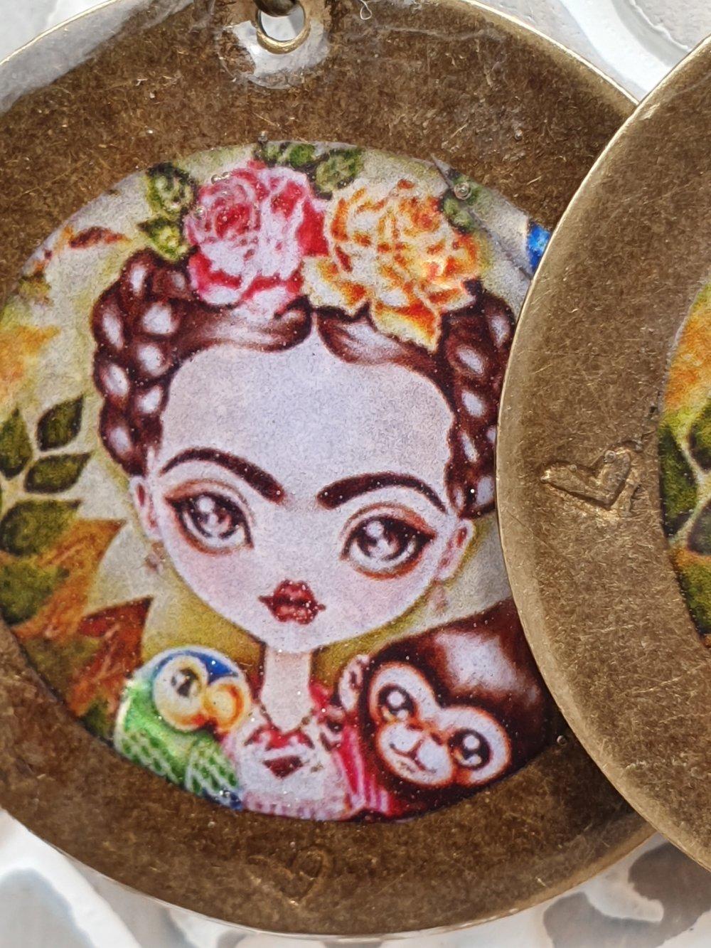 boucles :Frida Kalho le singe et le perroquet