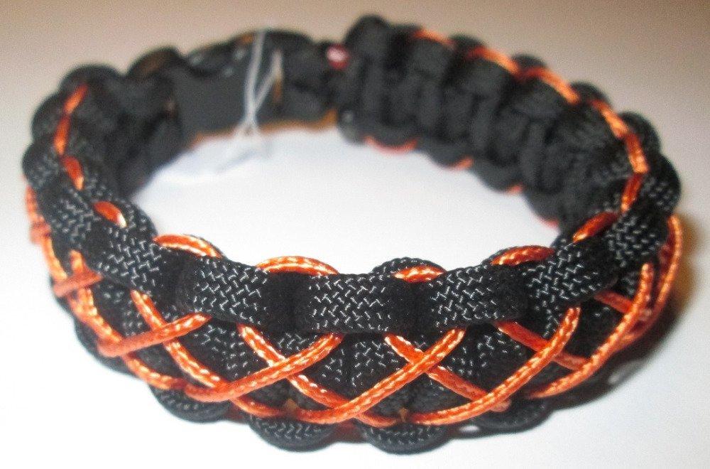 Bracelet Cobra Noir et Orange