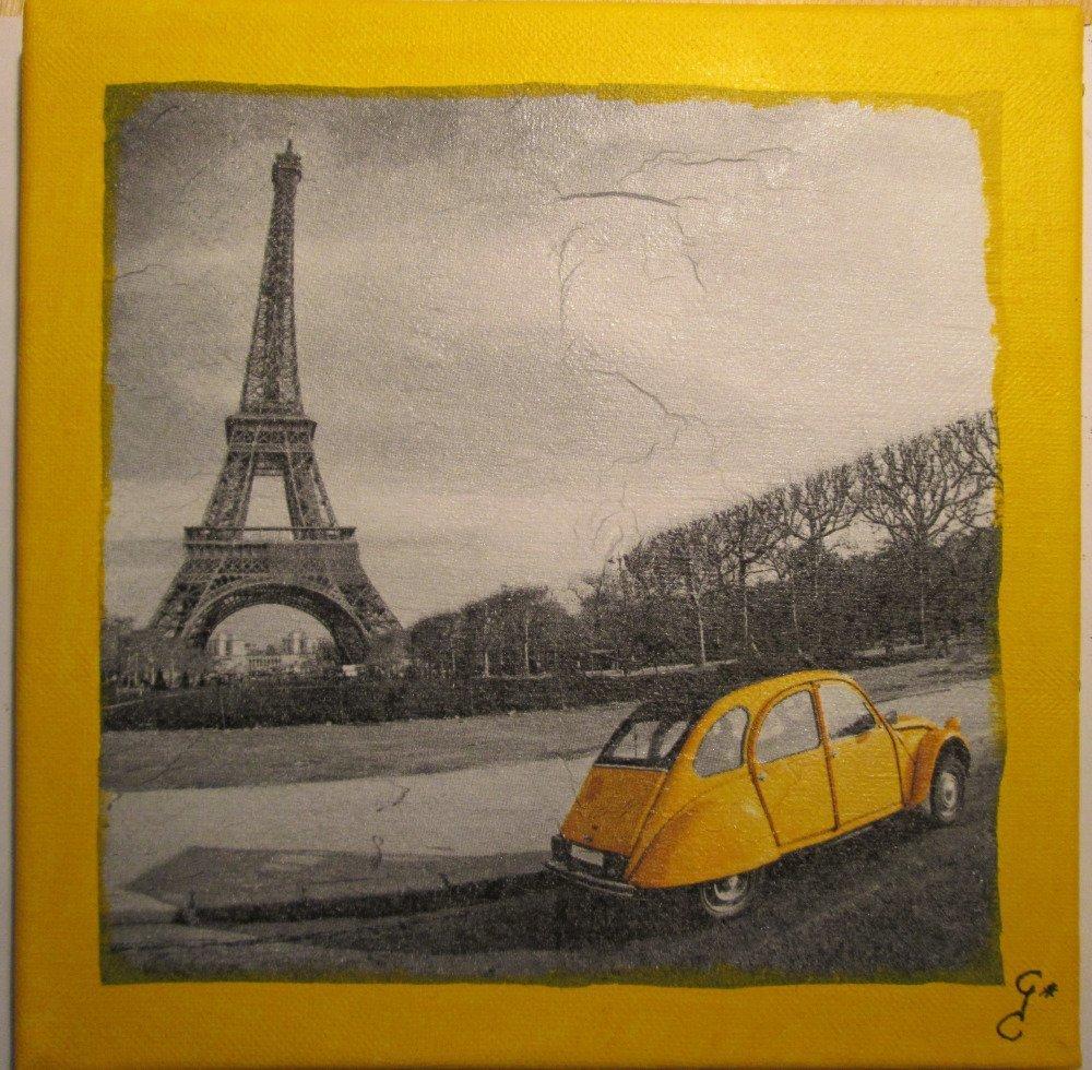 Tableau Paris en 2 CV