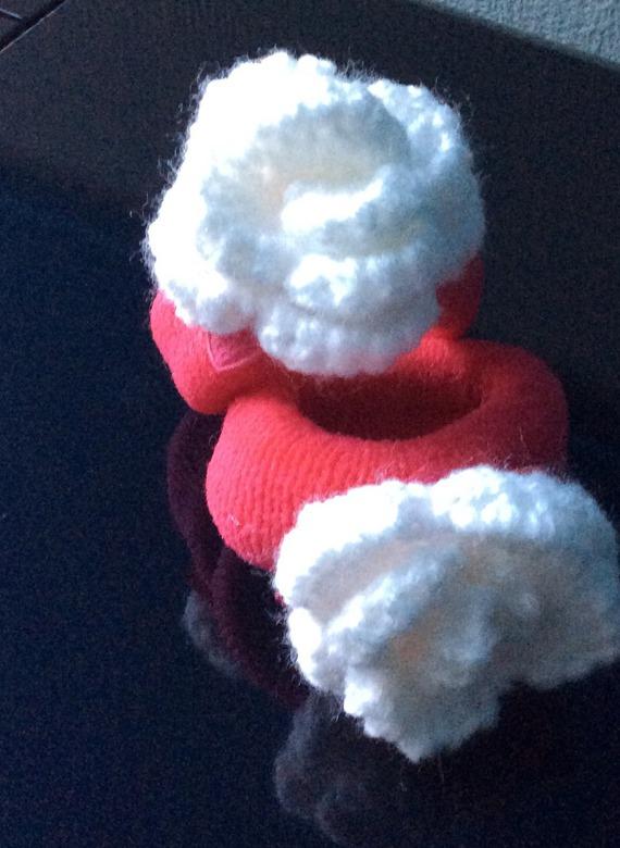 Élastique décor rose acrylique crochet