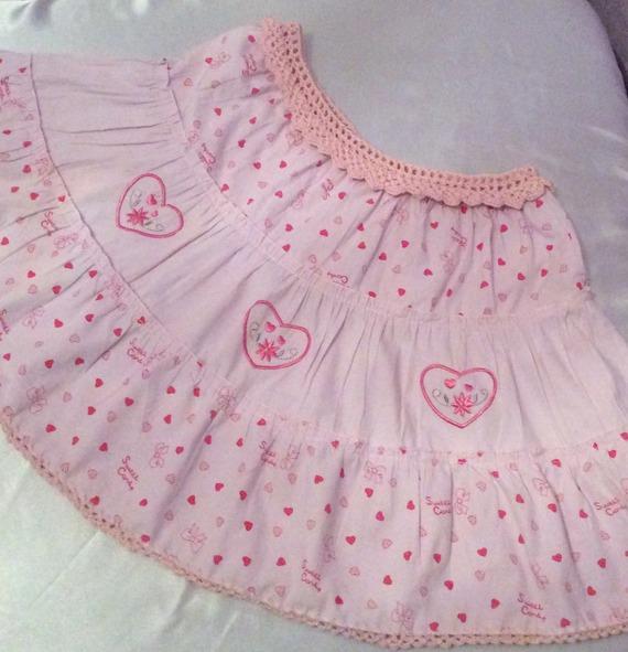 Jolie jupe  coton satinée couleur rose