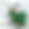Porte-clés coeur pixel alien galaxie holographique