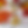 Collier renard roux et blanc sauvage automne