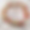 Bracelet rock  mixte tête de mort perles bois de coco