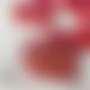 Lot de 6 décorations pour arbre de noël coeur pixel