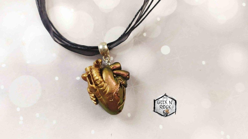 Collier anatomique coeur cabinet des curiosités
