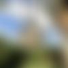 Pendentif collier orgonite en labradorite, shungite, cristal de roche et fleur de vie. n°1.