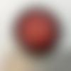 Plaque fleur de vie en shungite de 6,5 cm rouge, purifie et recharge vos pierres, vos boissons...
