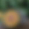 Plaque de rechargement en shungite fleur de vie 11 cm jaune p3-n°1, purifie et recharge vos pierres, vos boissons...