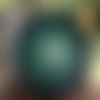 Plaque de rechargement en shungite fleur de vie 11 cm verte p3-n°12, purifie et recharge vos pierres, vos boissons...