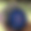 Plaque de rechargement en shungite fleur de vie 11 cm bleu p3-n°4, purifie et recharge vos pierres, vos boissons...