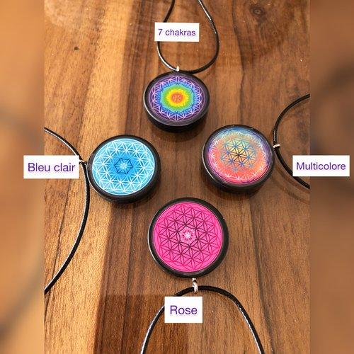 Nouveautés 2021. pendentif fleur de vie shungite. bijoux énergétiques et bien-être.