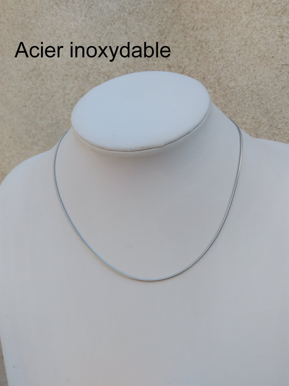 Chaine Serpentine Acier Inoxydable Fine Plate 1,5 mm
