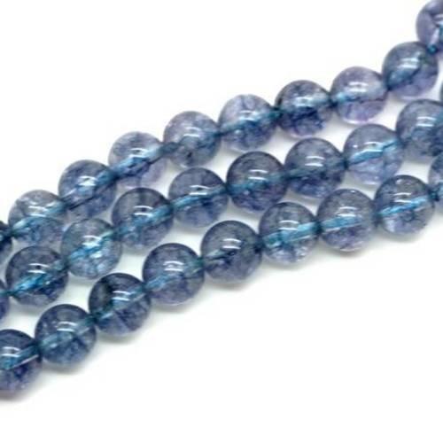 Perle aigue-marine ronde 8mm x 1