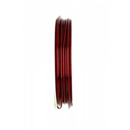 Bobine de fil à bijoux en cuivre couleur cuivré veilli 0.4 mm x 10  m