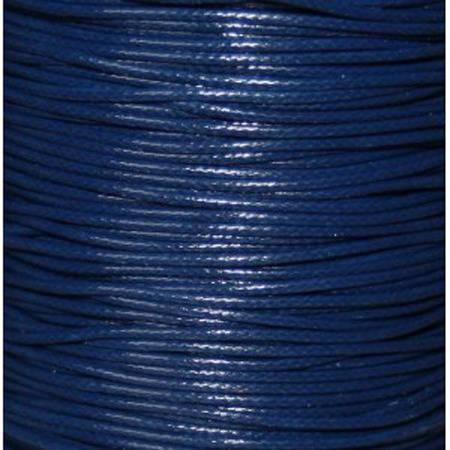 Fil nylon ciré 0.8 mm bleu marine x 3 m