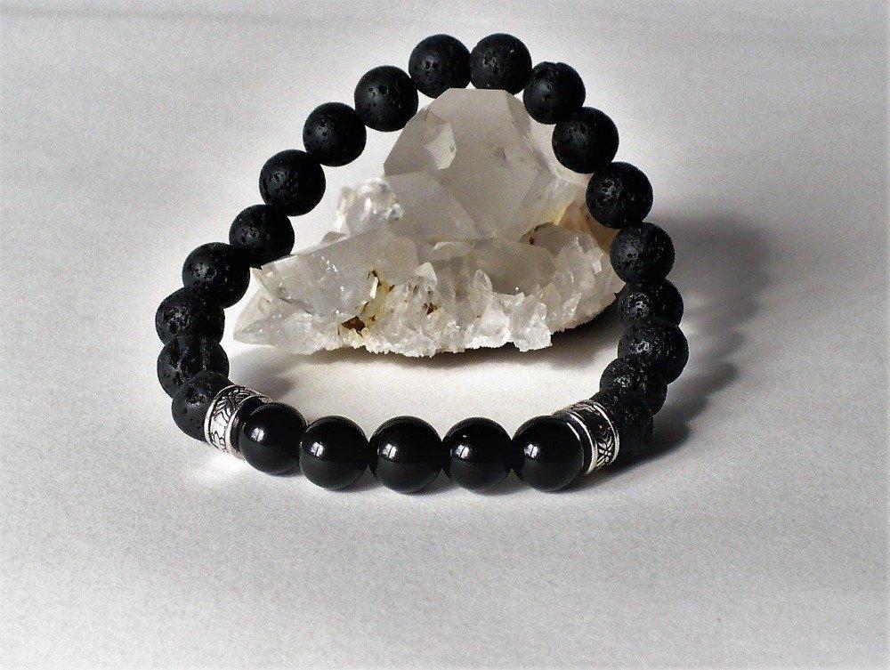 Bracelet perles 4 mm obsidienne noire véritable Pierre semi précieuse