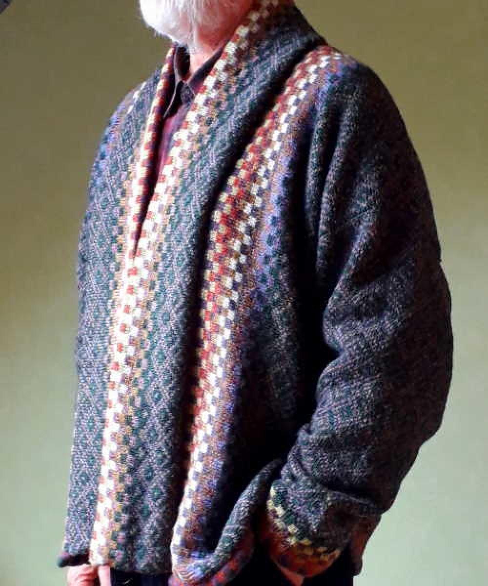 """Veste """"Diamante """" 100% laine de shetland. Pièce unique pour homme ou femme"""