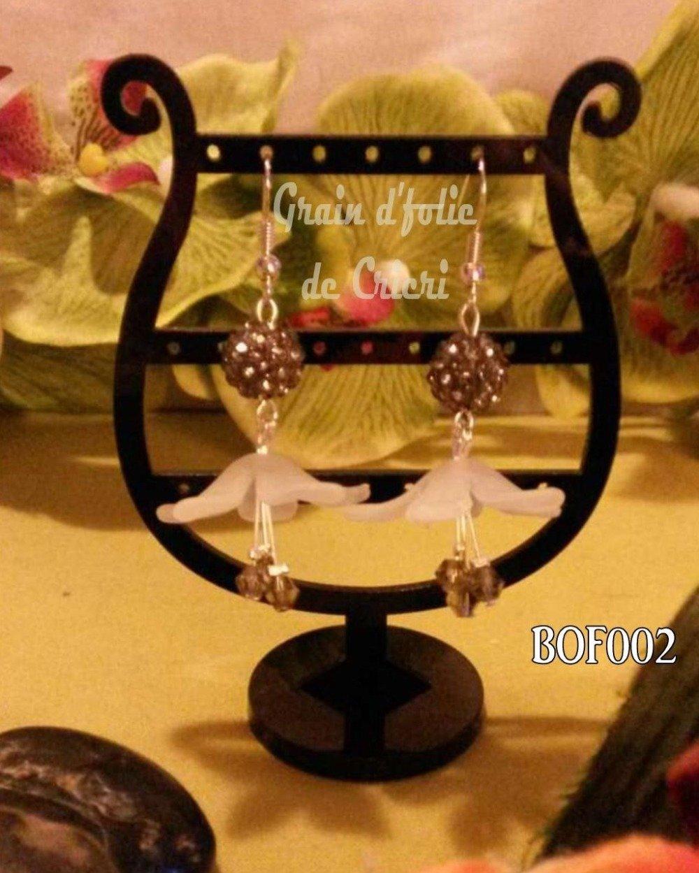 BOF002 - Boucles d'oreilles fleurs