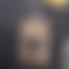 Boucle d'oreille rectangle note de musique noire sur capsule nespresso orangepailletée