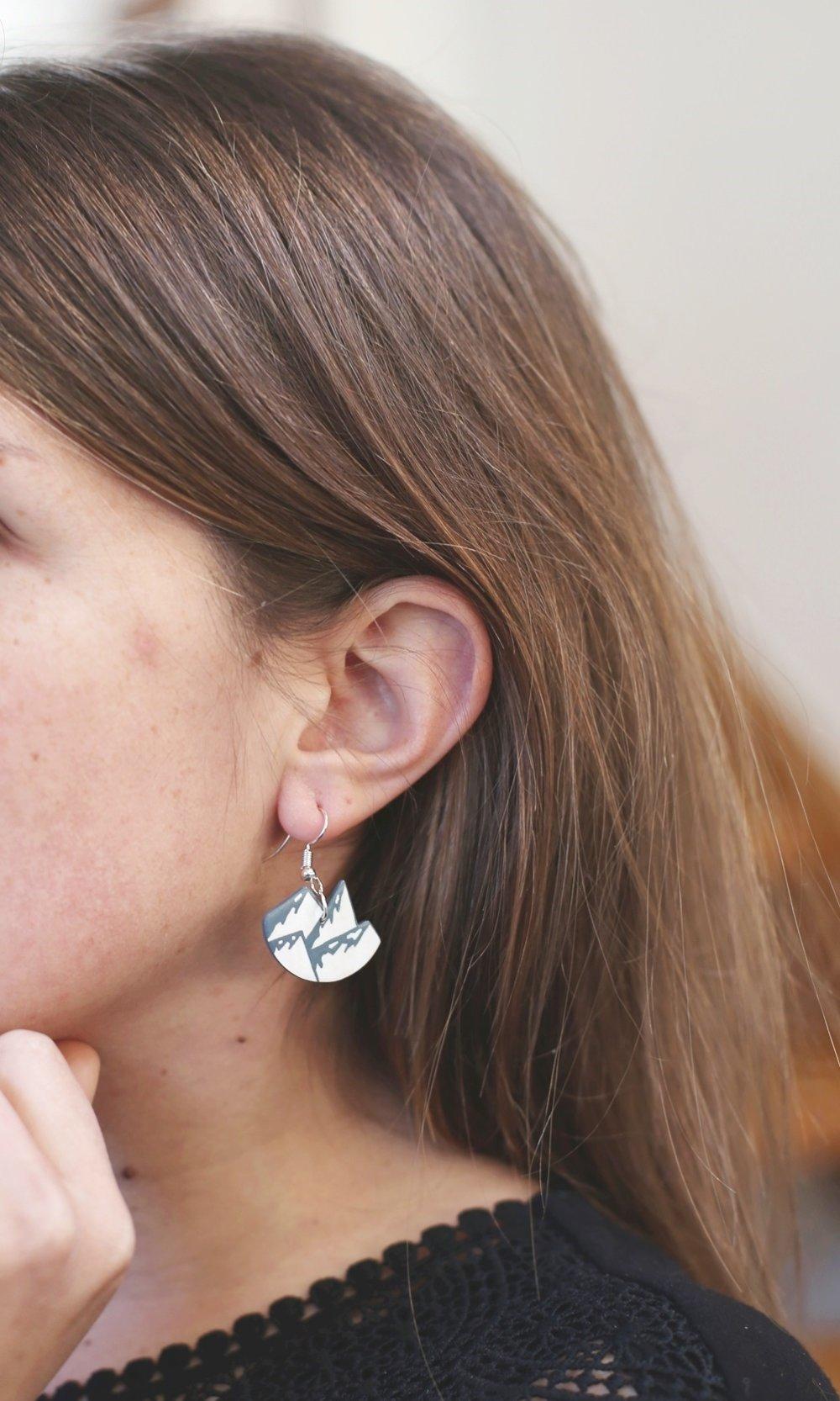 Boucles d'oreilles Montagnes