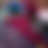 Mitaines tricotées en bordeaux, moufles en alpaga, gants extra longs