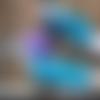 Mitaines tricotées en bleu pigeon, moufles en mérinos, gants au crochet