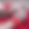 Mitaines beige camel au crochet avec fleur rouge, moufles tricotés en laine, gants de noces