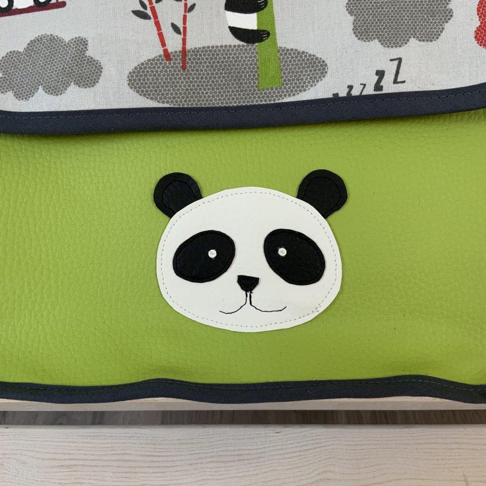 Cartable maternelle panda joueurs