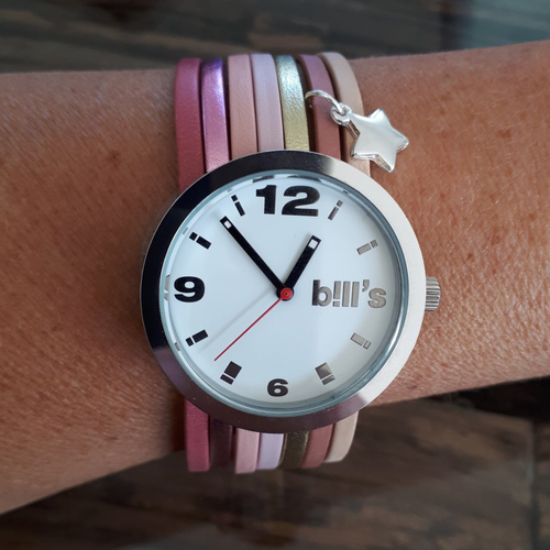 Montre personnalisée manchette bracelet multi lanières de cuir européen