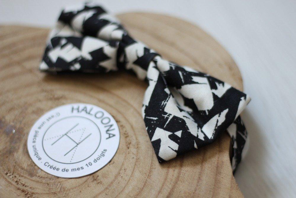 Noeud Papillon- motif noir et blanc