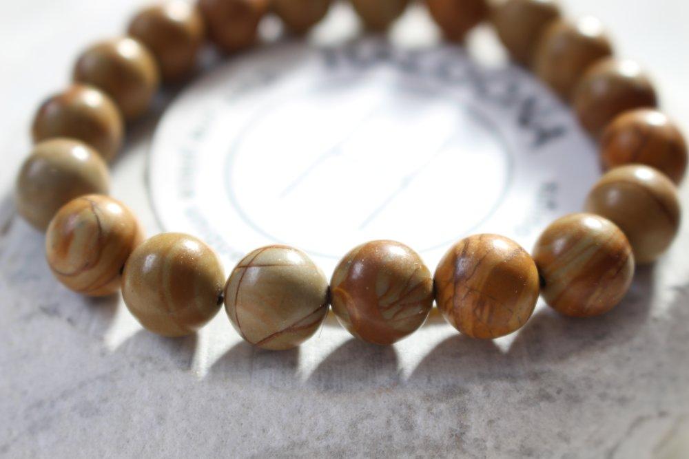 Bracelet homme en perle de bois naturel