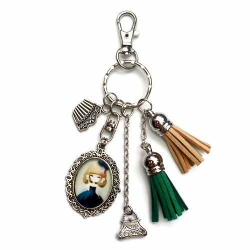Porte clés bijoux sac fille en robe chic sac à main parfum
