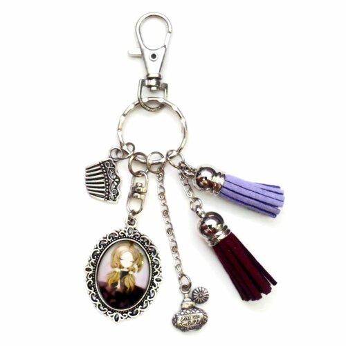 Porte clés bijoux sac fille en robe chic parfum idéal cadeau femme accessoire