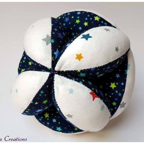 Balle de préhension 'montessori' douce nuit bleu