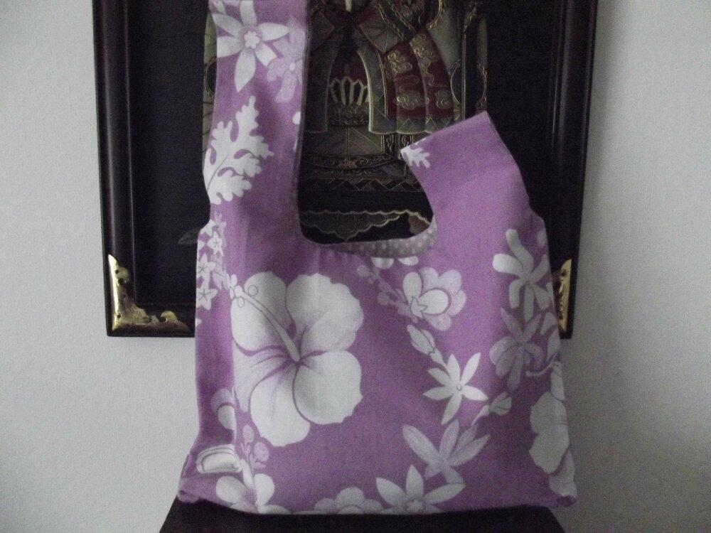 sac japonais en coton imprimé fleuri