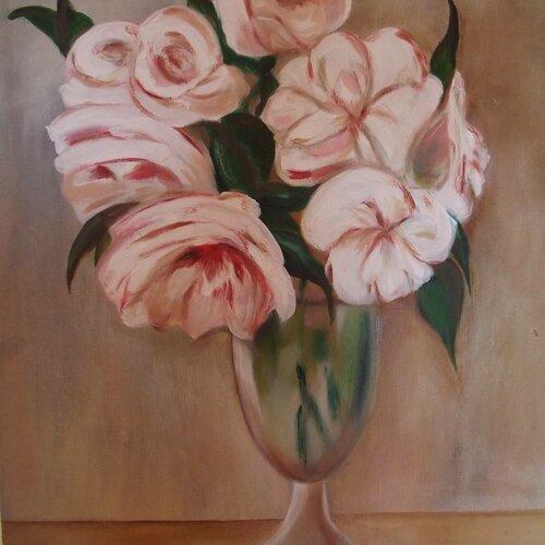 Beaucoup de romantisme pour un bouquet de fleurs blanches